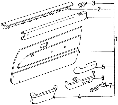 Trim Panel - Toyota (67650-35080-B0)