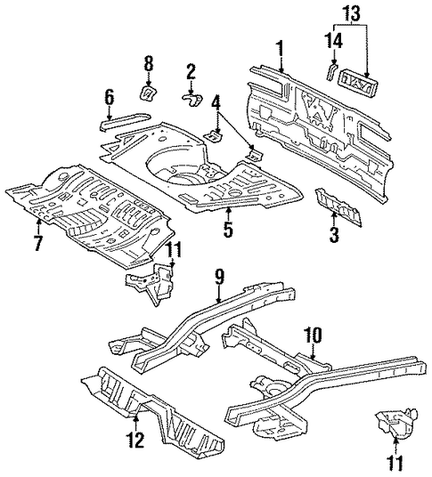 Rear Cross-Member Bracket - Toyota (57609-20050)