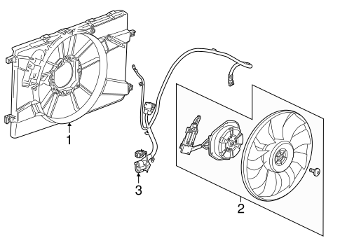 oem cooling fan for 2014 chevrolet cruze