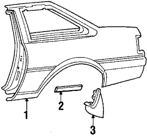 Quarter Panel - Toyota (61601-1A760)