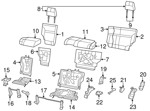 rear seat components for 2010 jeep liberty