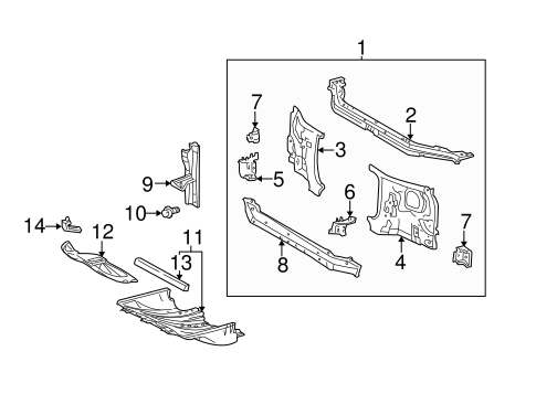 Lock Support - Toyota (53217-0C010)