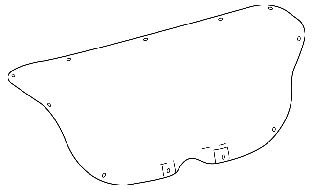 Trunk Lid Trim - Toyota (64719-02170-C0)