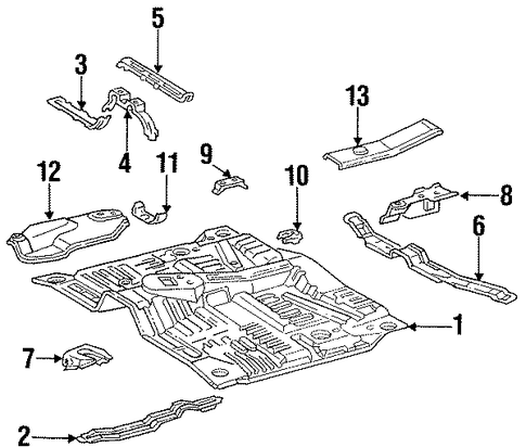 Front Crossmember - Toyota (57451-34020)