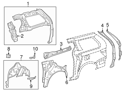 Inner Wheelhouse Extension - Toyota (61628-08020)