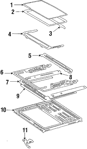 Guide Rail - Toyota (63208-20050)