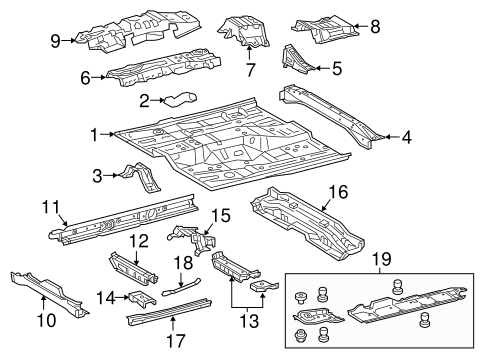 Center Crossmember - Toyota (57451-07040)
