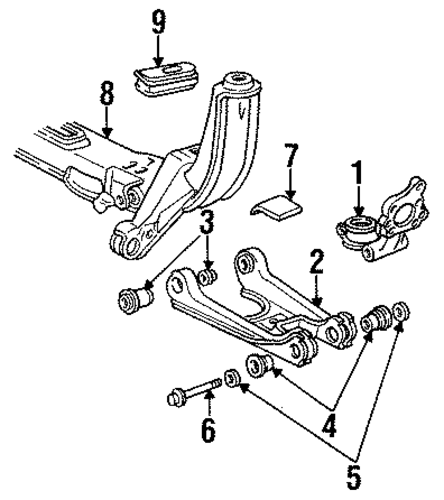 REAR SUSPENSION For 1992 Cadillac Seville