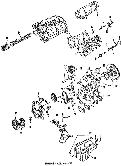 Engine Parts For 1996 Ford F