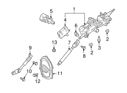 STEERING/STEERING COLUMN ASSEMBLY for 2011 Toyota Land Cruiser #1