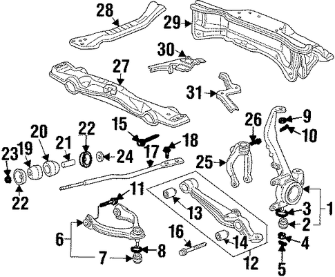 OEM Honda 51399-S30-000 - Washer, Front Radius Arm (53MM)