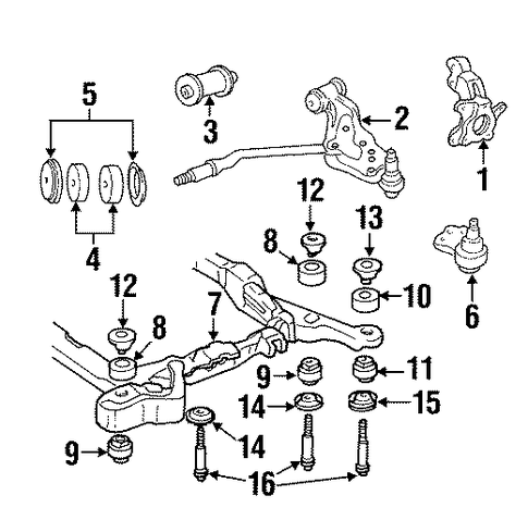 SUSPENSION COMPONENTS Parts for 1995 Cadillac DeVille #2