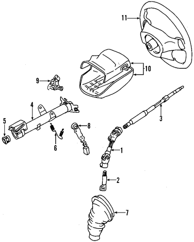 2003 toyota tundra steering column diagram