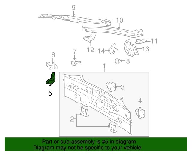 Rear Body Panel Hook - Toyota (66310-13010)