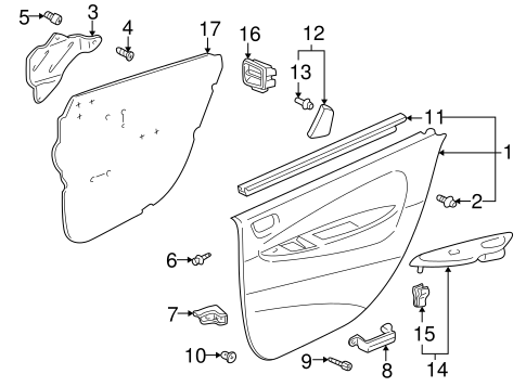 Water Deflector - Toyota (67841-47020)
