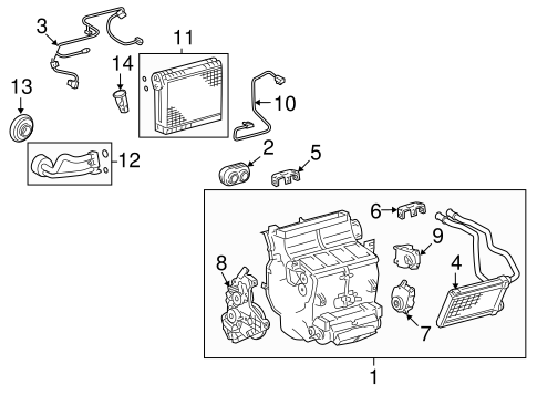 HVAC/EVAPORATOR COMPONENTS for 2015 Toyota Tundra #1