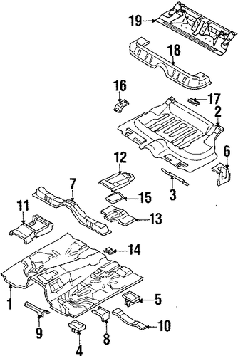 Patch, Rear Seat - Honda (8-97125-058-1)