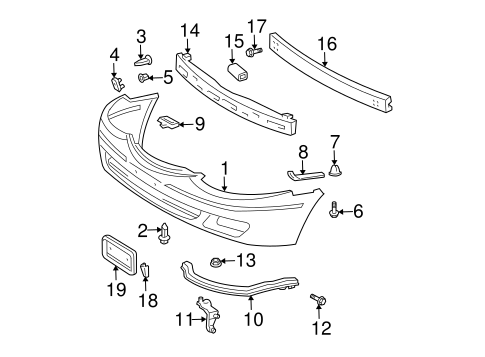 BODY/BUMPER & COMPONENTS - FRONT for 1999 Toyota Solara #1