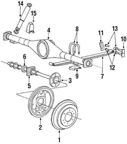 service manual  1995 mitsubishi mighty max rear