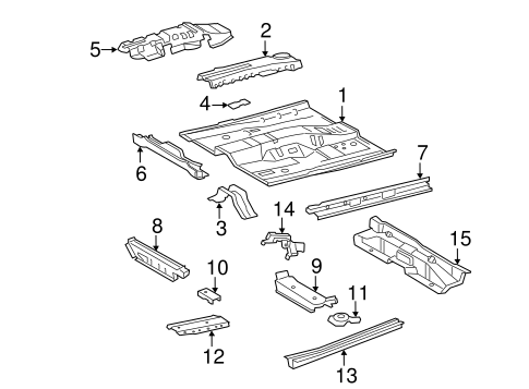 Floor Crossmember - Toyota (57454-33050)