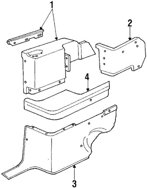 quarter panel trim for 1984 ford mustang