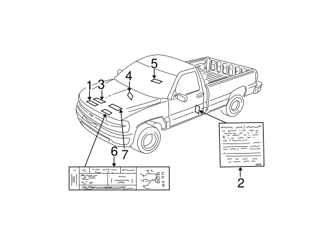 Oil Filter Diagram furthermore 15226257 likewise 1990 Chevy 350 Engine Diagram also T14810418 Need fuse box schematic besides Chevy truck stickers. on square body silverado