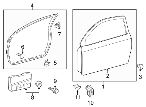 Door Shell - Toyota (67001-21220)