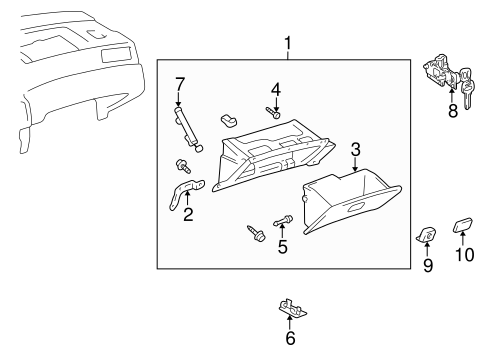 Glove Box Assembly - Toyota (55303-AA010-B0)