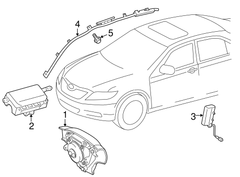 ELECTRICAL/AIR BAG COMPONENTS for 2012 Toyota Corolla #2