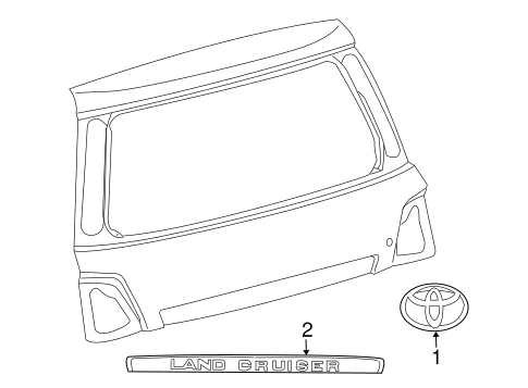 BODY/EXTERIOR TRIM - LIFT GATE for 2014 Toyota Land Cruiser #1