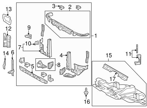Mount Bracket - Toyota (53905-0C010)
