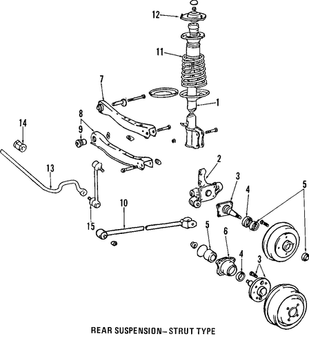 REAR SUSPENSION/REAR SUSPENSION for 2007 Toyota Solara #2