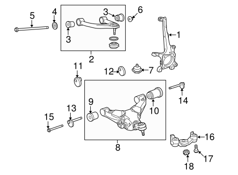FRONT SUSPENSION/SUSPENSION COMPONENTS for 2014 Toyota Tundra #3