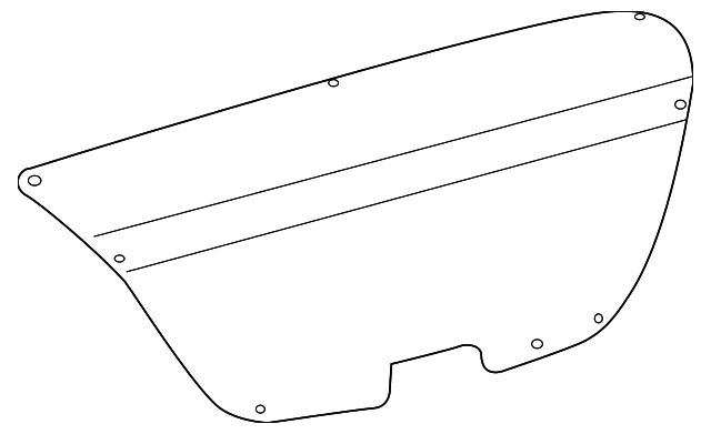 Trunk Lid Trim - Toyota (64719-02100-C0)