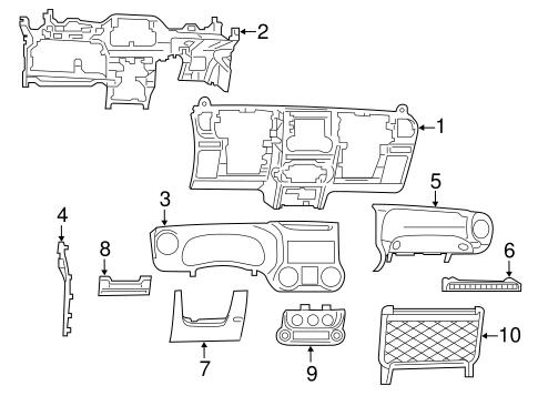 instrument panel for 2014 jeep wrangler