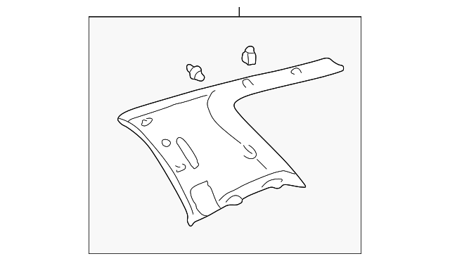 Quarter Trim Panel - Toyota (62550-0C030-E0)
