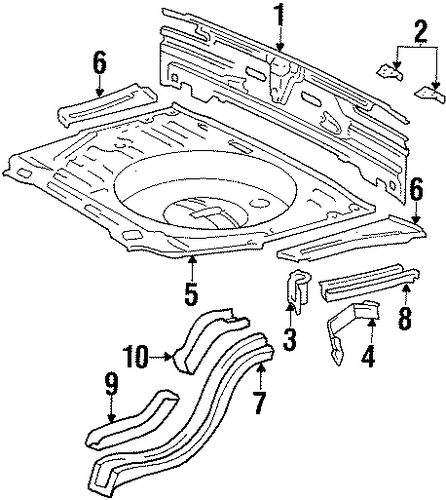 Panel Below Gate - Toyota (58307-14571)
