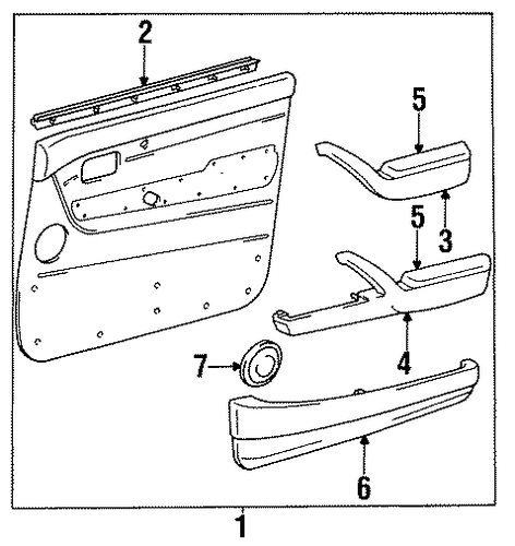 Door Trim - Toyota (67620-60110-03)
