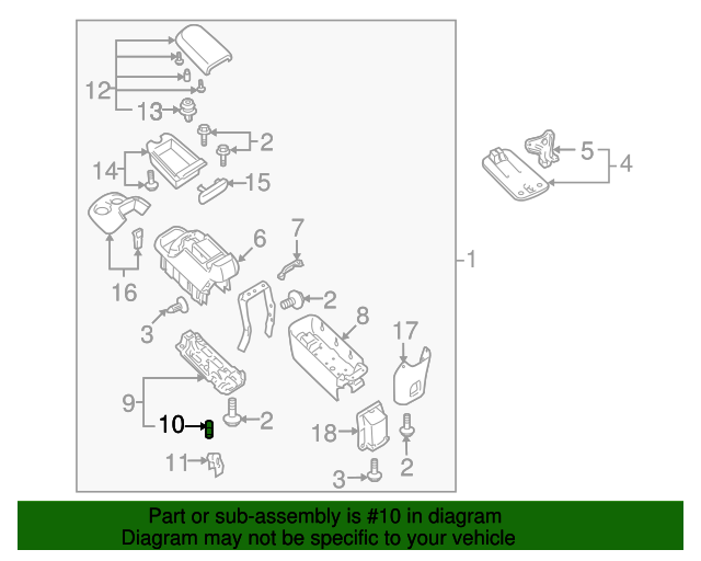 Container Cushion - Toyota (58871-0C030)