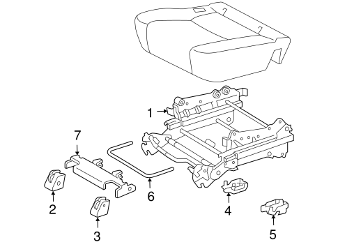 BODY/TRACKS & COMPONENTS for 2010 Toyota Sienna #1