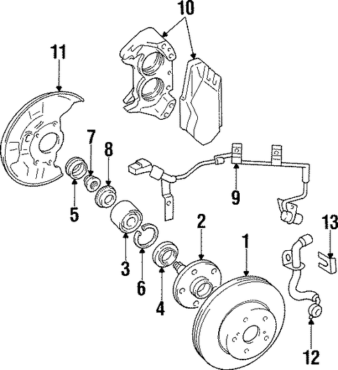 BRAKES/ANTI-LOCK BRAKES for 1998 Toyota Supra #1
