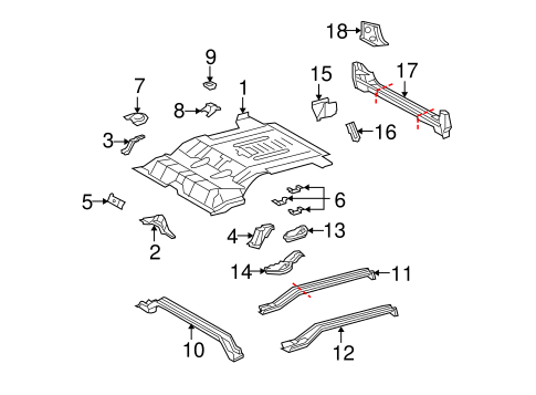 Center Reinforced Bracket - Toyota (58215-35030)