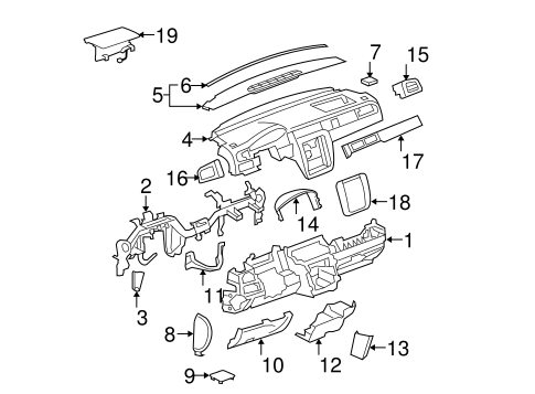 GM 20844035 Upper Trim Panel