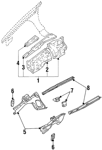 Side Rail - Toyota (57102-12391)