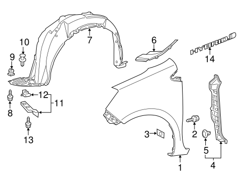 Liner Extension Retainer - Toyota (53879-17020)
