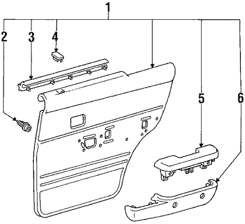 Trim Panel - Toyota (67640-35270-B0)