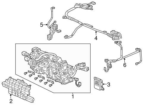 OEM Honda 1N005-5K0-A00 - Harness, R Ipu (Lower)