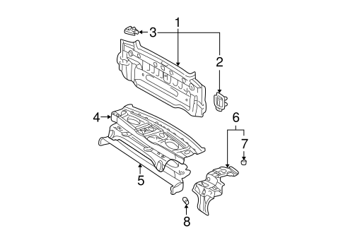 Pkg Tray Support - Toyota (64201-AA010)