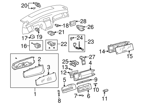 ELECTRICAL/SWITCHES for 2001 Toyota Avalon #2