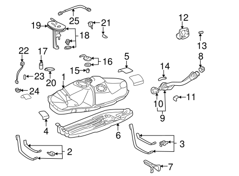 FUEL SYSTEM/FUEL SYSTEM COMPONENTS for 1996 Toyota Tacoma #2